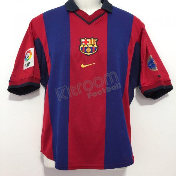 watch 7f1ad 8800a 2000-01 Barcelona Home Shirt Nike (Very Good) S