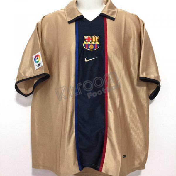 new concept ace6f 0f89d 2001-02 Barcelona Away Shirt Nike (Very Good) L