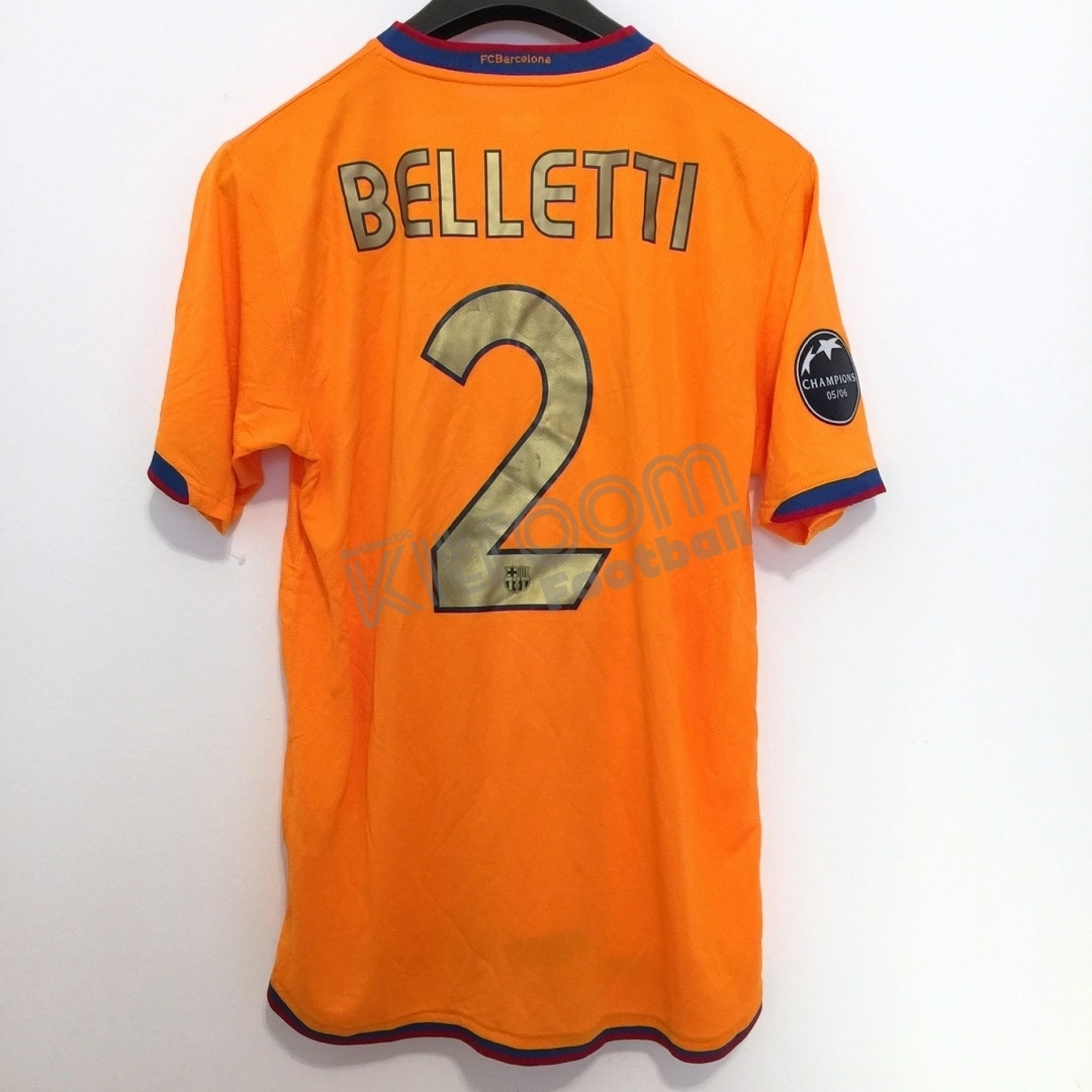 9c6379819 2006-07 Barcelona UCL Away Shirt Belletti  2 Nike (Very Good) M ...