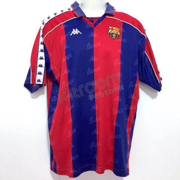 blanco lechoso Idealmente Propio  1992-95 Barcelona Home Shirt #9 Kappa (Good) XL – Kitroom Football