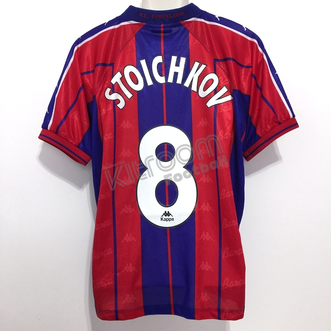 e9bf79df2 1997-98 Barcelona Home Shirt Stoichkov  8 Kappa (Good) L – Kitroom ...