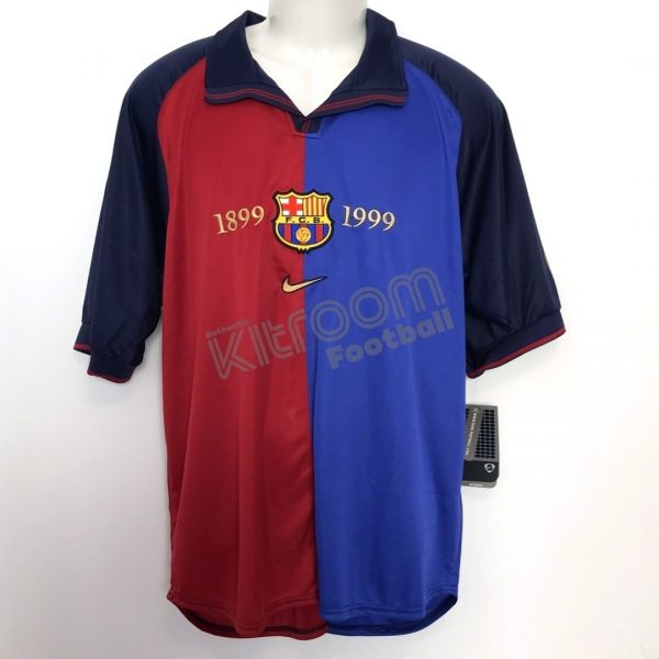 big sale 10915 36e52 1999-00 Barcelona Home Shirt Centenario Nike *BNWT* L