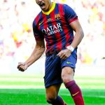 <> at Nou Camp on May 3, 2014 in Barcelona, Spain.
