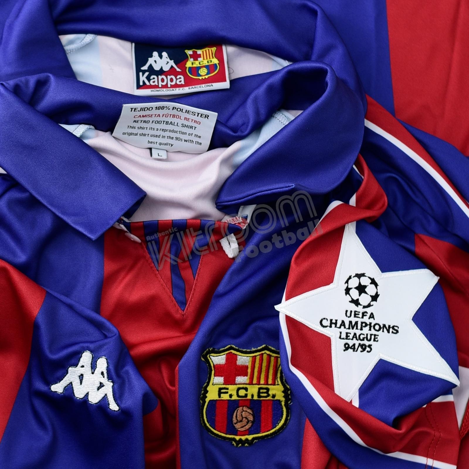 1994-95 Barcelona Retro Champions League Home Shirt Romario  10 L White  Star Patch – Kitroom Football c2432498b504a