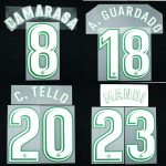 2017-18 Betis Player Issue Away Name Set 1