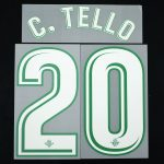 2017-18 Betis Player Issue Away Name Set 3