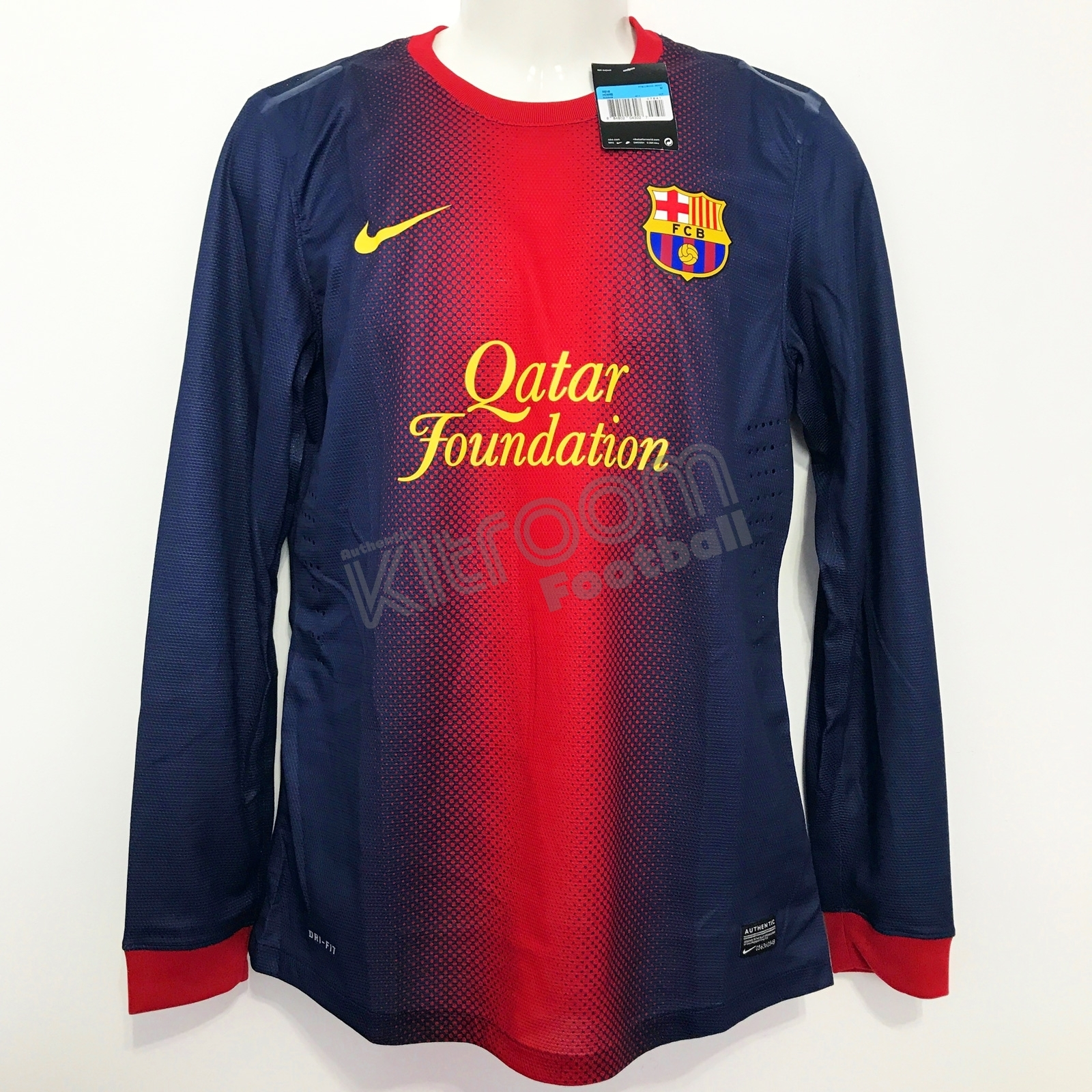 new style 0c1d8 0ebfd Details about 2012-13 Barcelona Player Issue Home L/S Shirt Nike *BNWT* M  Jersey