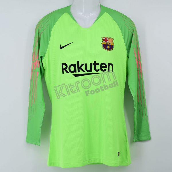 super popular 617cb 7c4c7 2018-19 Barcelona Player Issue Gk L/S Shirt Light Green Nike *BNWT* L