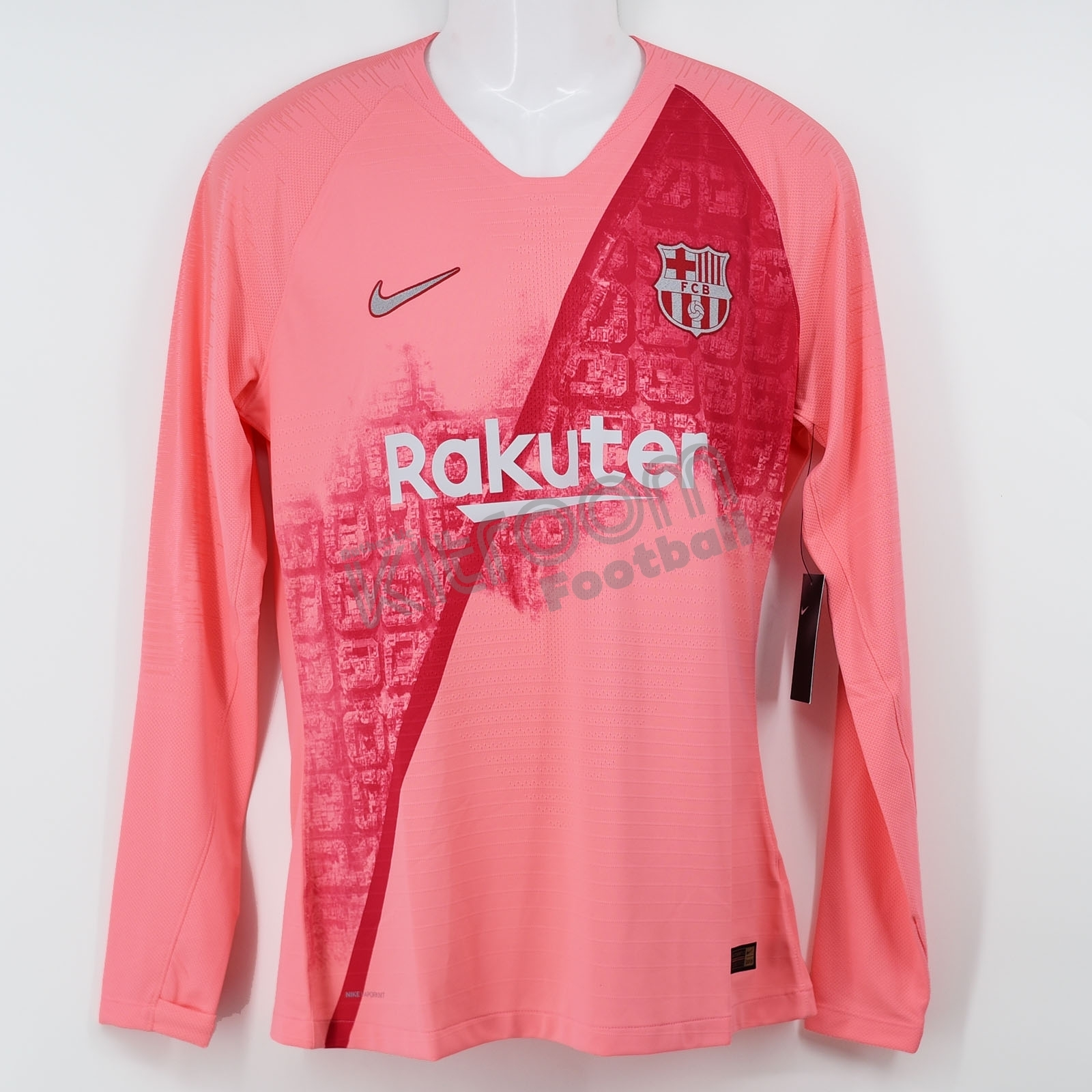 huge discount 13642 ad8dc Details about 2018-19 Barcelona Player Issue Third L/S Shirt Vaporknit Nike  *BNWT* L Jersey