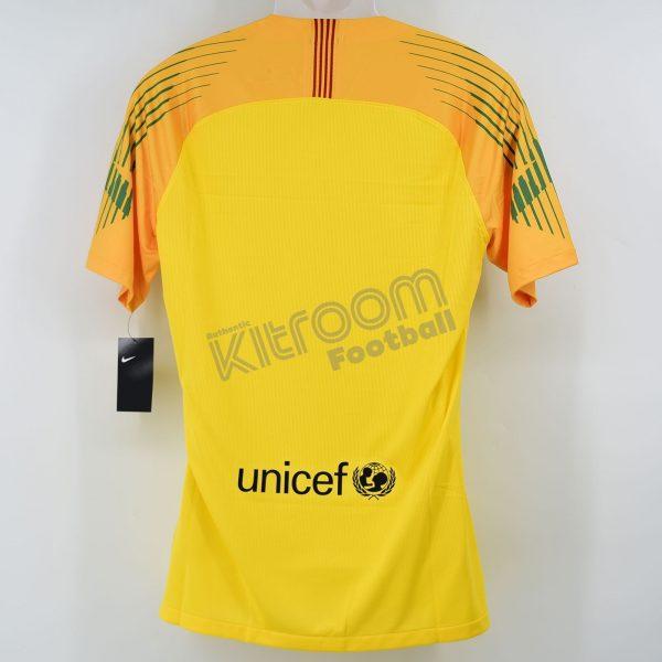 buy popular 094f6 4a9e9 2018-19 Barcelona Player Issue Gk Shirt Yellow Nike *BNWT* L