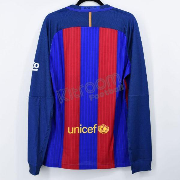 2016-17 Barcelona Player Issue Vapor Match Home L/S Shirt Nike *BNWT* L