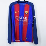2016-17 Barcelona Player Issue Vapor Match Home L/S Shirt Nike *BNWT* L