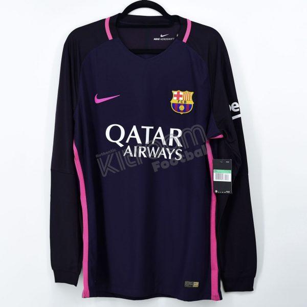 e8f25dc716d 2016-17 Barcelona Player Issue Vapor Match Away L S Shirt Nike  BNWT ...