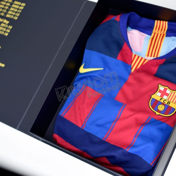 uk availability aafe7 dc272 Barcelona 20th Anniversary Shirt Box Collectors Edition Nike Vaporknit
