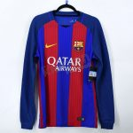 2016-17 Barcelona Player Issue Vapor Match UCL Home L/S Shirt Nike *BNWT* M
