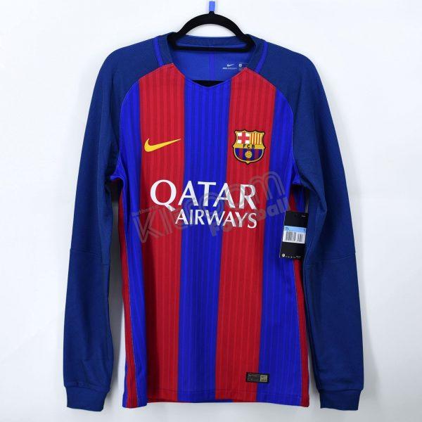 2016-17 Barcelona Player Issue Vapor Match UCL Home L//S Shirt Nike *BNWT* L J...