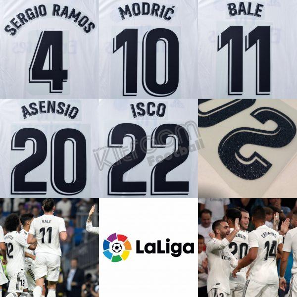 df976e44e 2018-19 Real Madrid La Liga Home Name Set – Kitroom Football