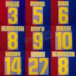 2008-10 Barcelona Player Issue Home Name Set Sipesa