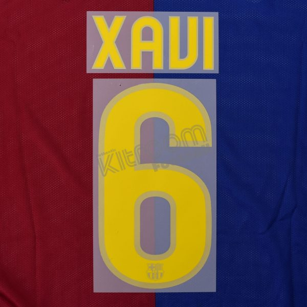 A INIESTA # 8 Barcelona FC Home 2013-14 Official Name Set Sipesa