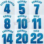 2017-18 Real Madrid La Liga Home Name Set