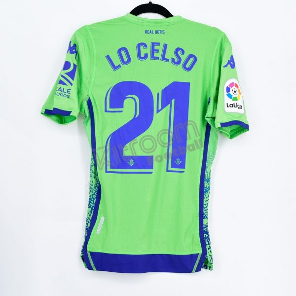 newest 6dd4b 9a431 2017-18 Betis Player Issue Third Shirt Lo Celso #21 Kappa *BNWT* S