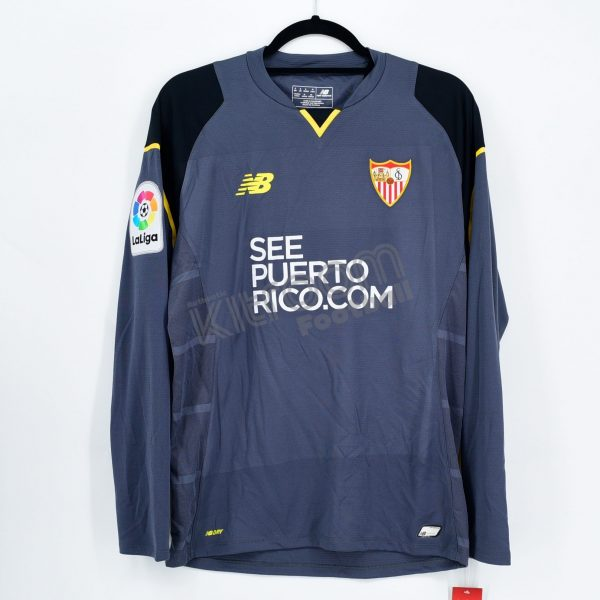 9d955fece 2016-17 Sevilla FC Player Issue Gk Grey Shirt L S NB  BNWT  S ...