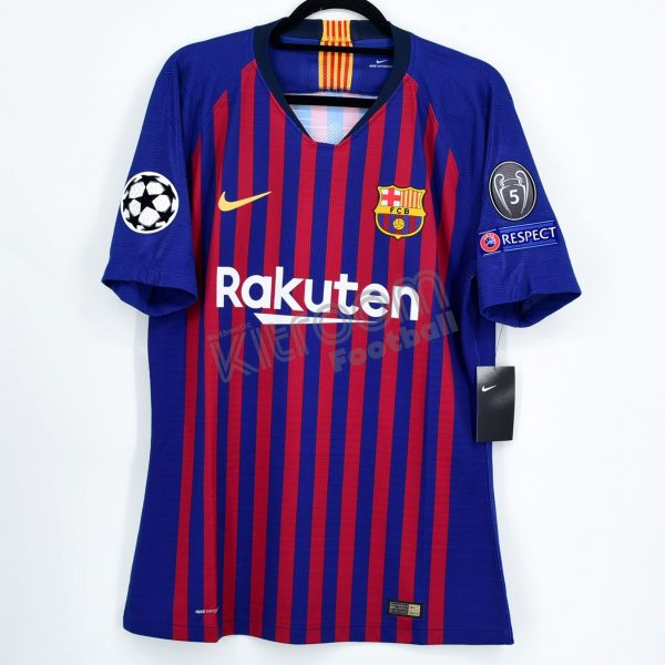 hot sale online f3be7 5e166 2018-19 Barcelona Player Issue Home Shirt #10 MESSI Champions League M