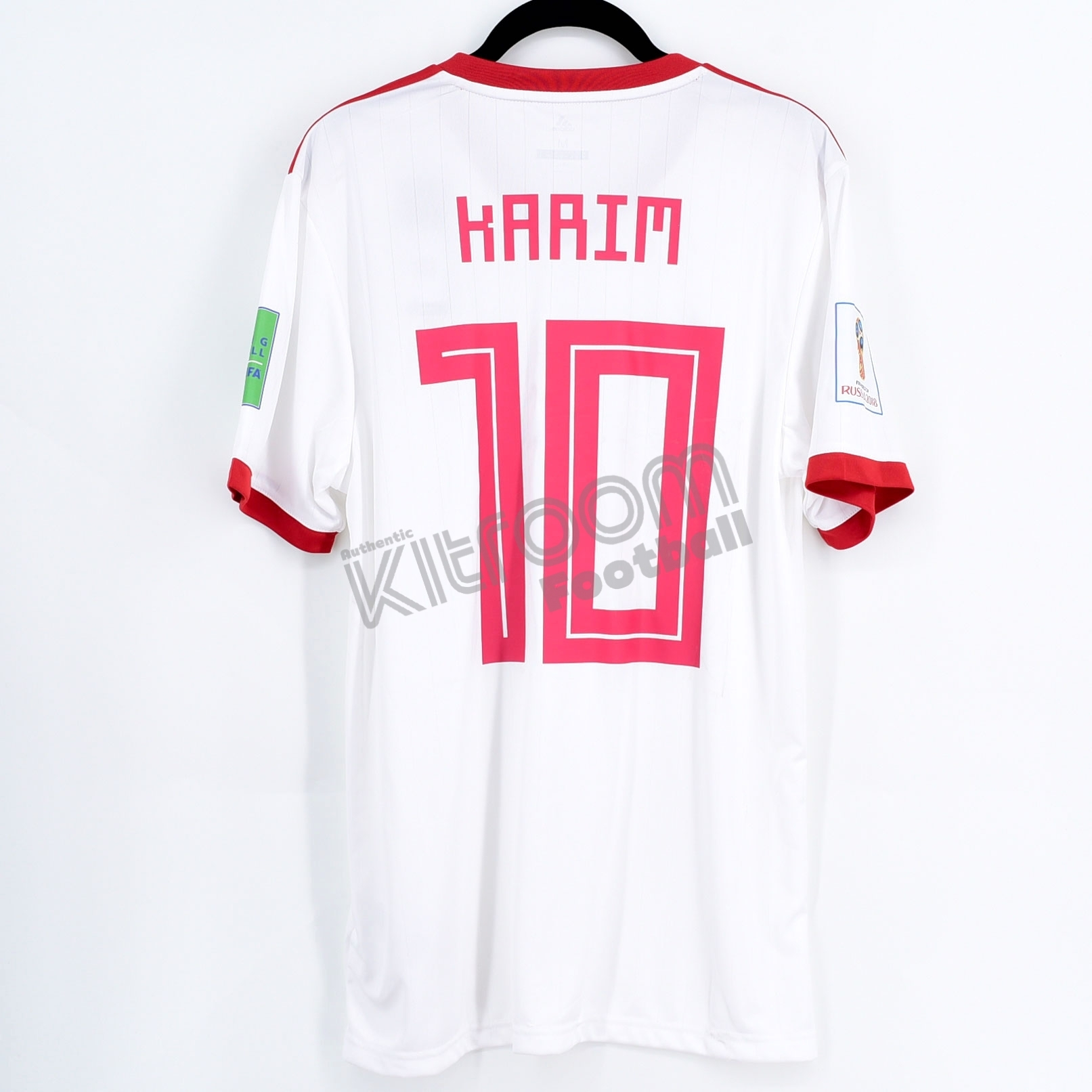 new style 3bbc9 93cf3 Details about Iran World Cup 2018 Russia Home Player Issue Shirt #10 KARIM  vs Portugal Jersey