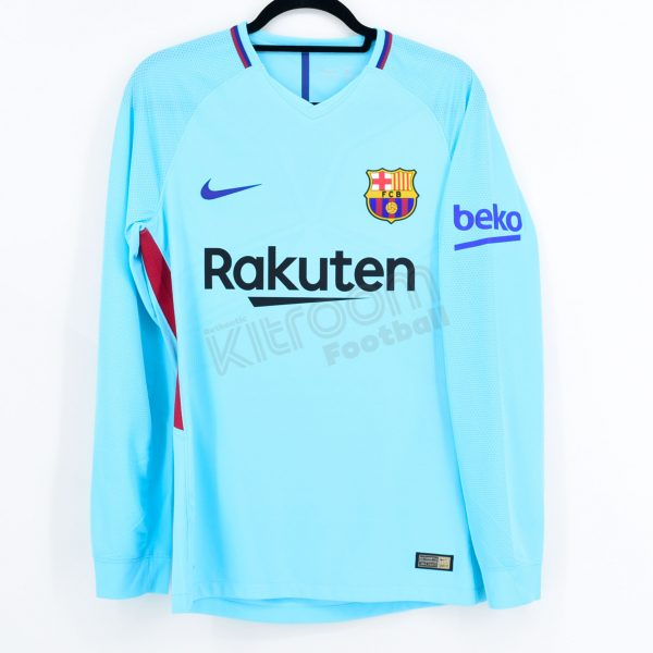 detailed look 2e37d 4797d 2017-18 Barcelona Player Issue Away L/S Shirt Beko Nike *BNWT* M