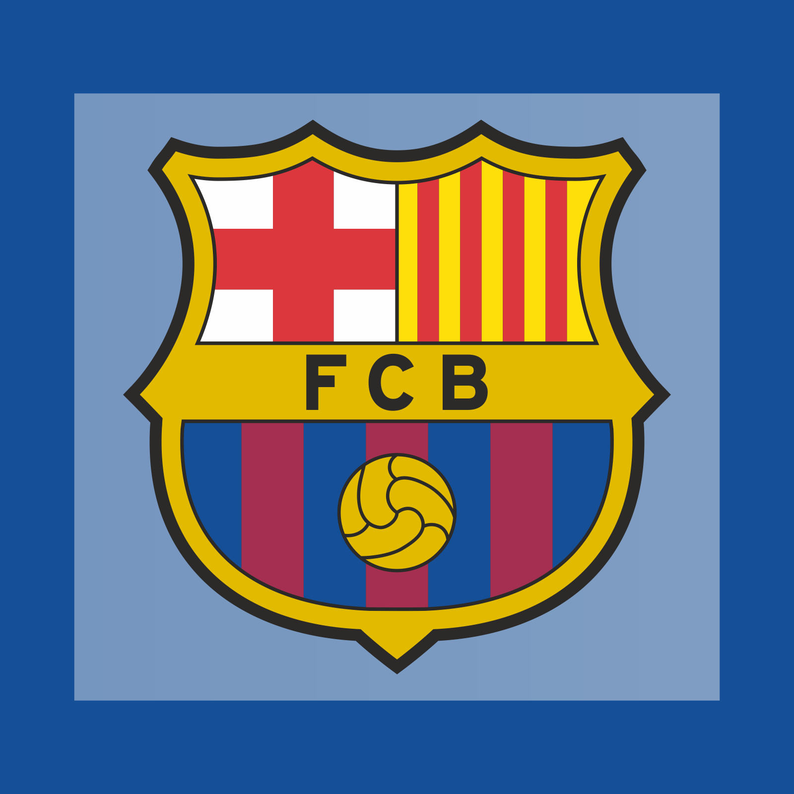 Escudo Fc Barcelona Club Badge Crest Patch Kitroom Football