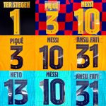 2019-20 Barcelona Player Issue Champions League Name Set- (1)