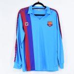 1984-85 Barcelona Away Retro Blue Shirt L:S Meyba1