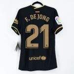 2020-21 Barcelona Away Match Shirt La Liga de jong1