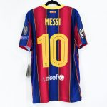 2020-21 Barcelona Home Match Shirt #10 MESSI Champions League1